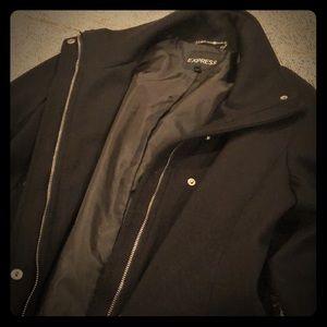 Express Topcoat- Black